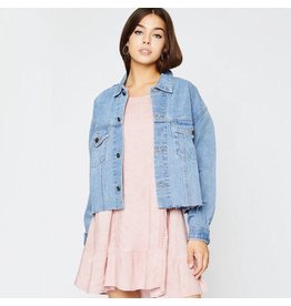 flight lux denim jacket
