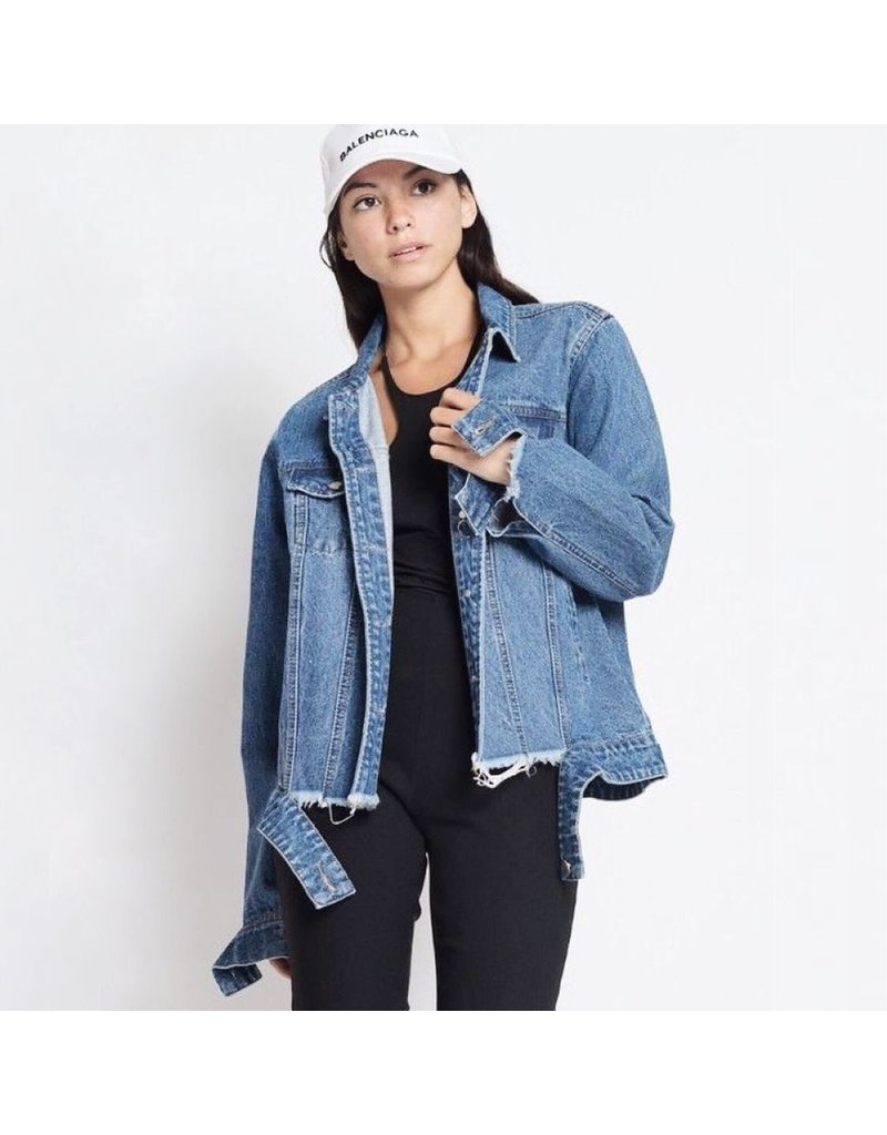 flight lux woven denim jacket