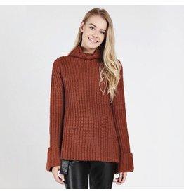 flight lux wild honey turtleneck sweater