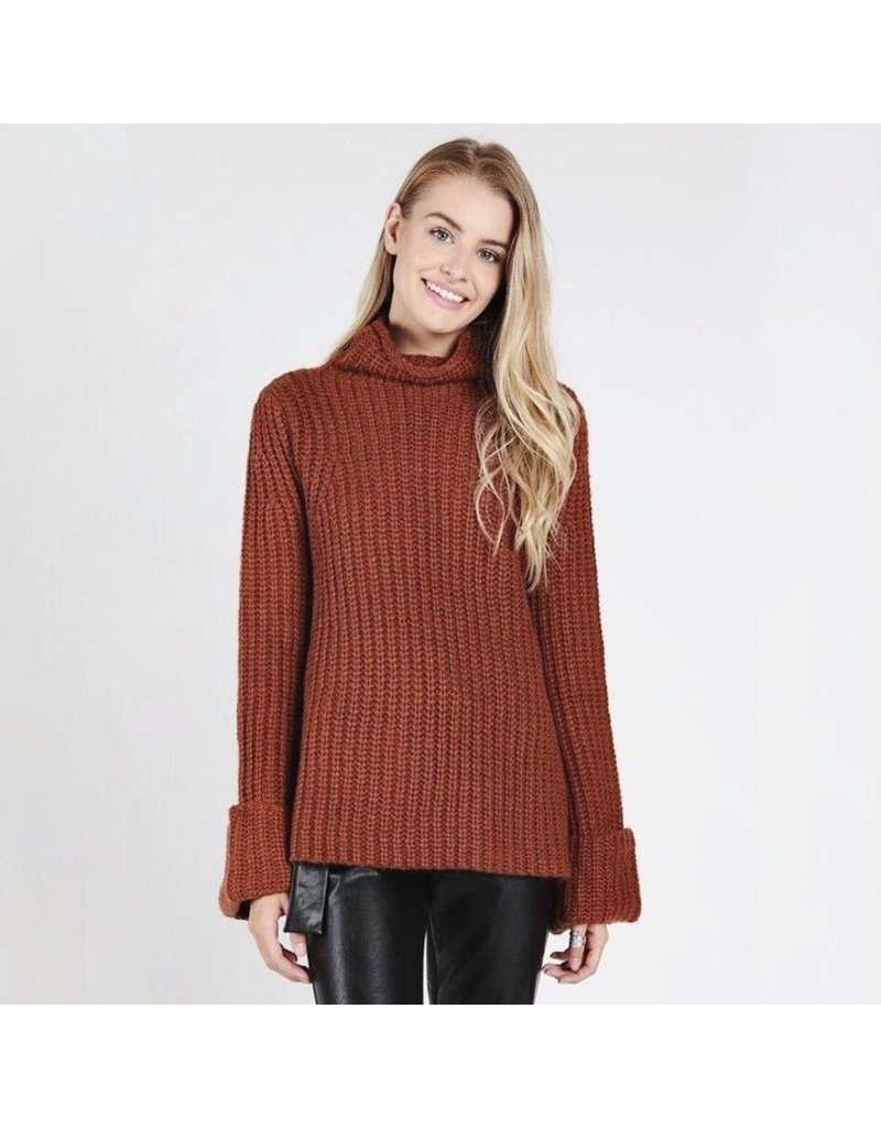 flight lux wild honey turtleneck sweater