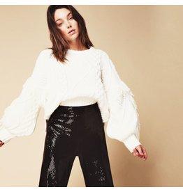 line & dot line & dot jasper fringe sweater