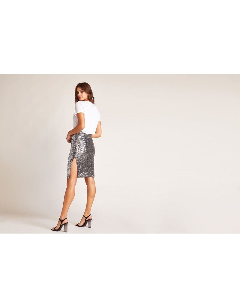 bb dakota bbdakota sliver sequin skirt