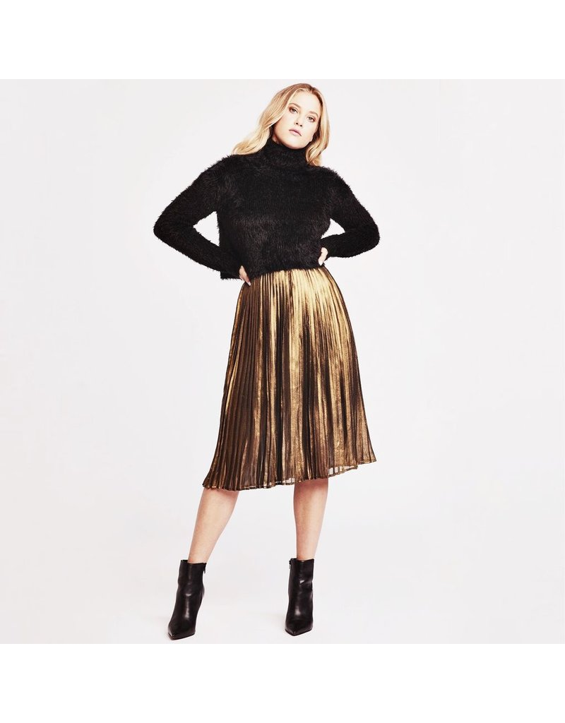 bb dakota bbdakota foil the trouble pleated skirt