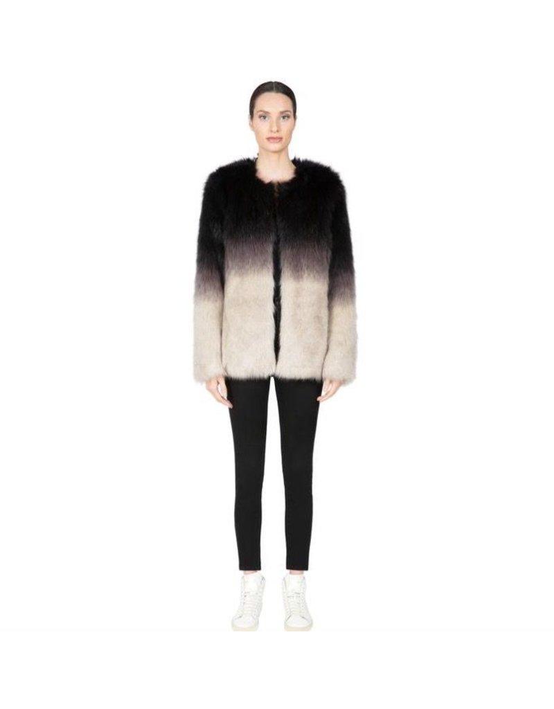 flight lux apparis ombre faux fur coat