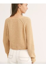 free people free people high low v sweater