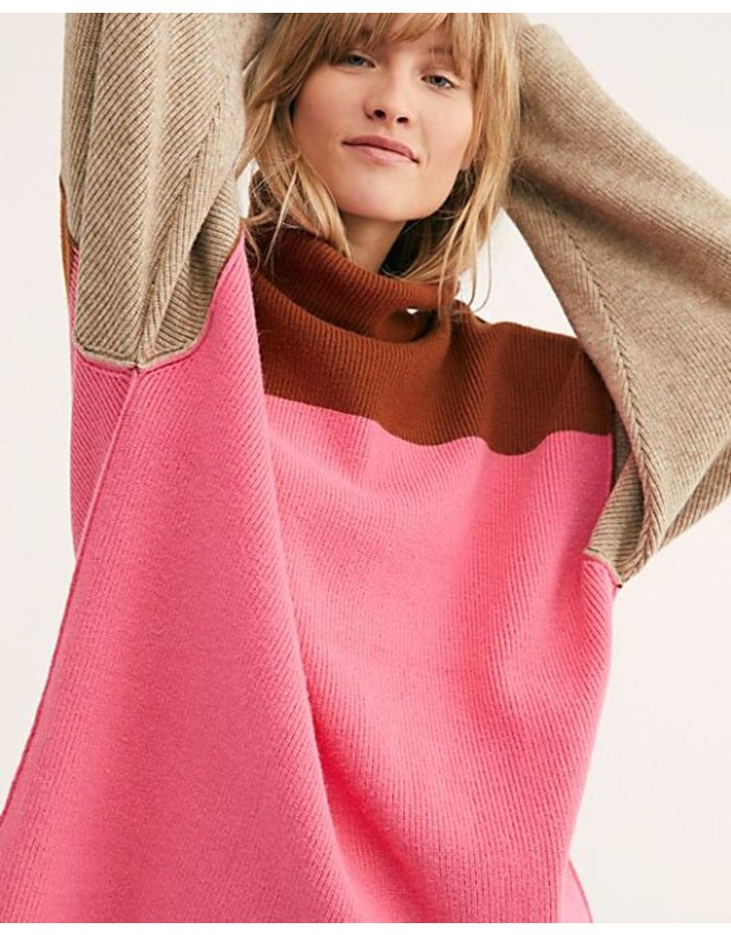 free people free people color block sweater