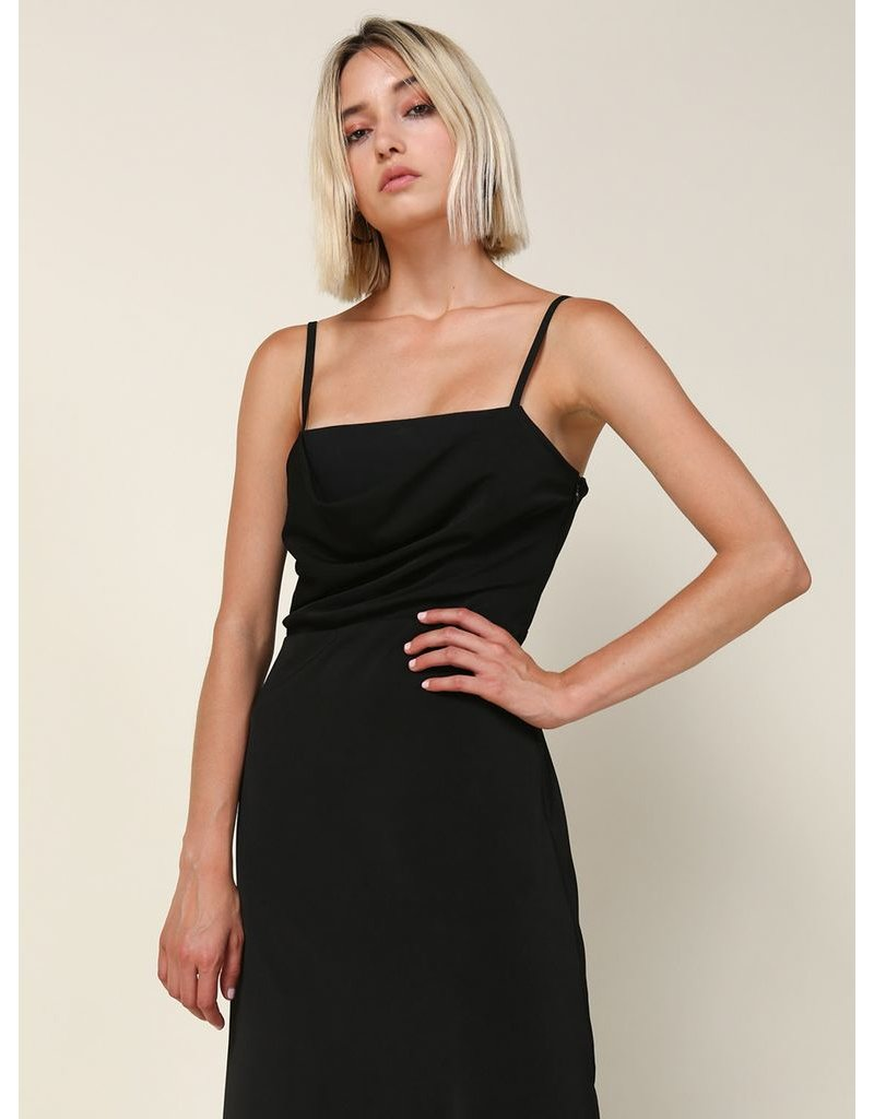 line & dot line & dot sabrina draped midi dress