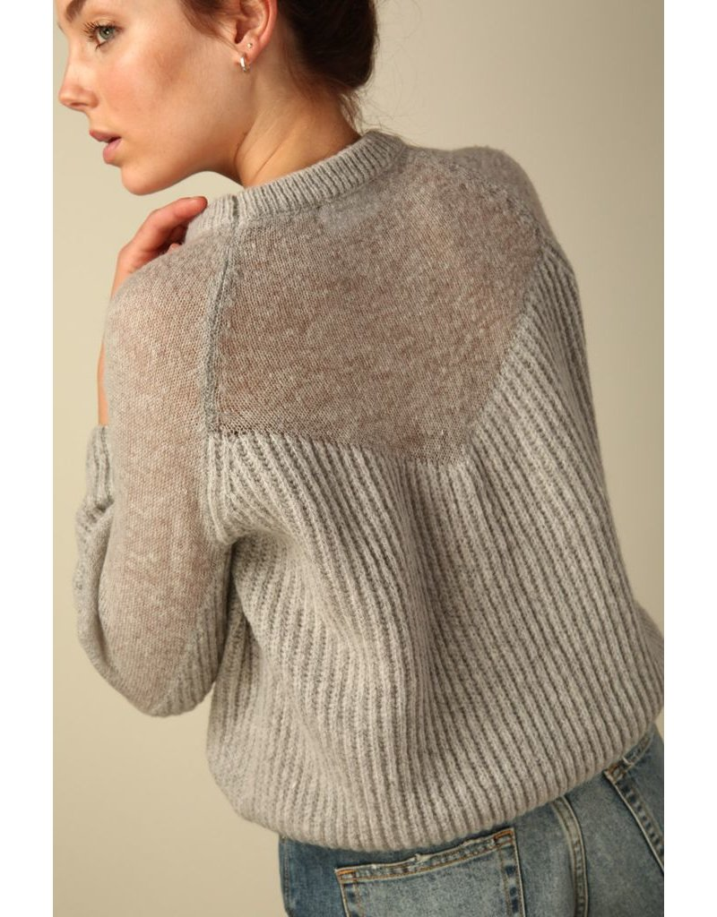 line & dot line & dot heavenly sheer sweater