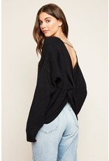 hayden plunging twist-back knit sweater