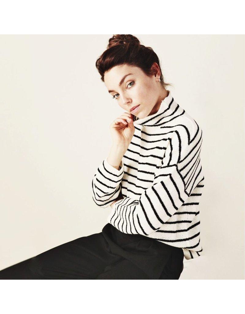line & dot line & dot elle striped sweater
