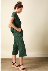 line & dot line & dot hart back tied jumpsuit