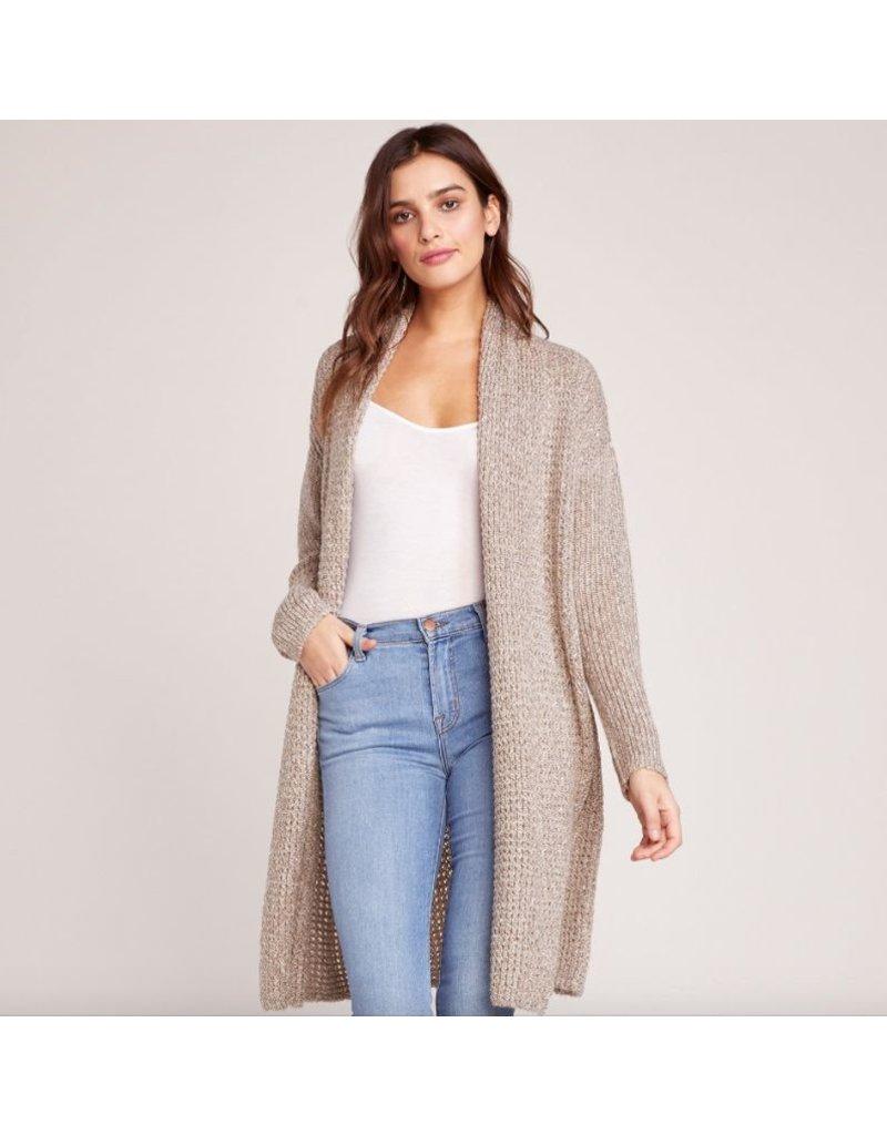 bb dakota bb dakota long weave cardigan sweater