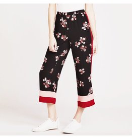 bb dakota bb dakota floral pants with colorblock bottom