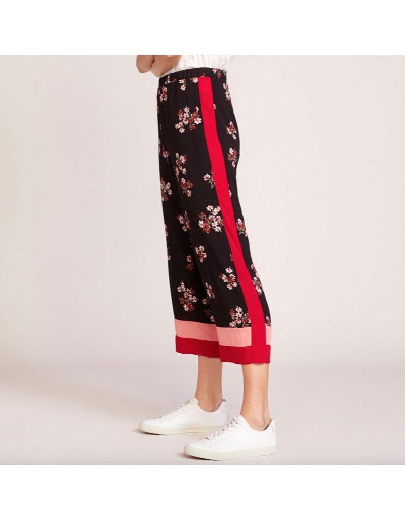 bb dakota bb dakota floral pants with colorblock bottom