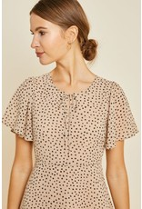 hayden dotted midi swing dress