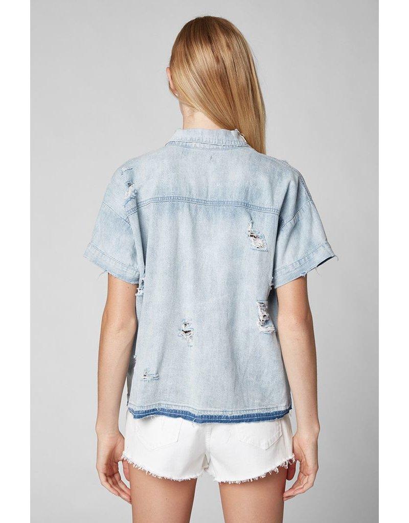 blank nyc blanknyc renegade ss denim shirt