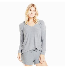 chaser chaser drop shoulder lace-up sleeve hoodie