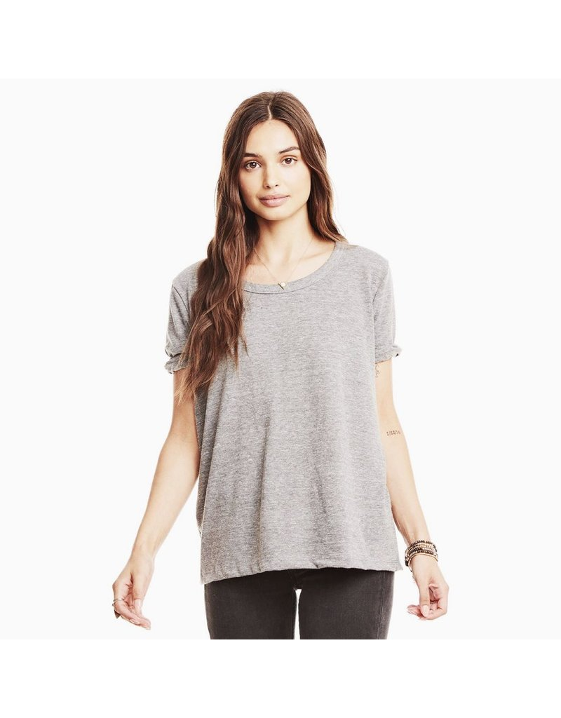 chaser chaser cropped knot back tee