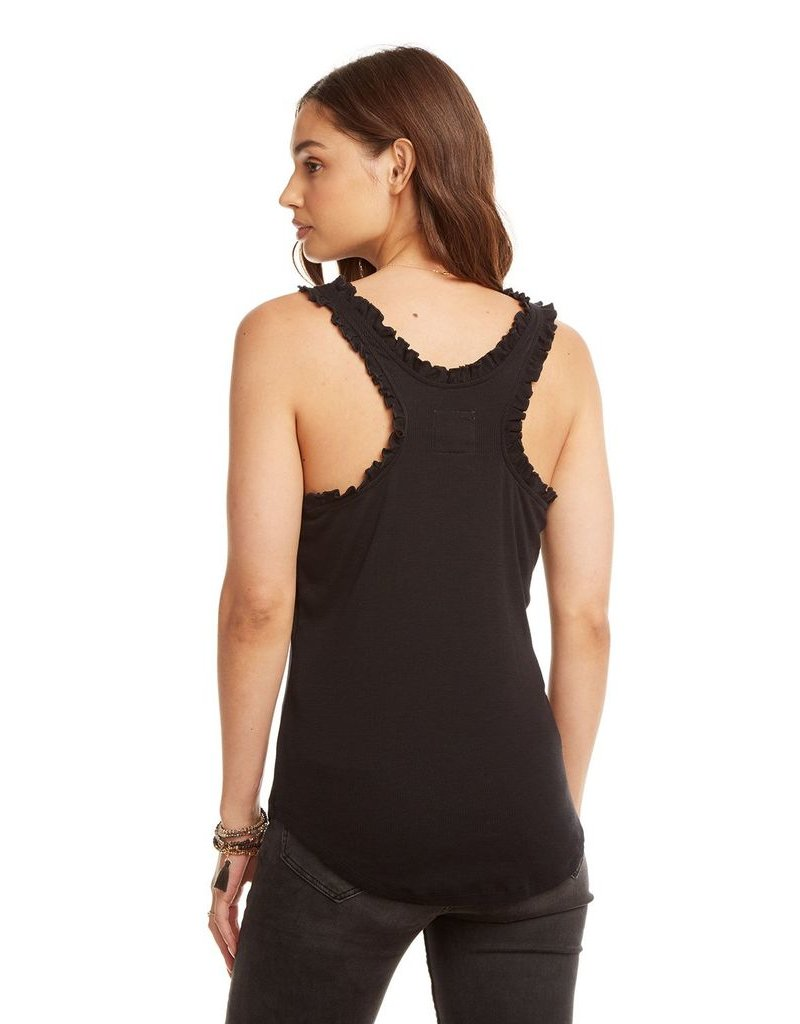 chaser chaser rib ruffle racerback tank