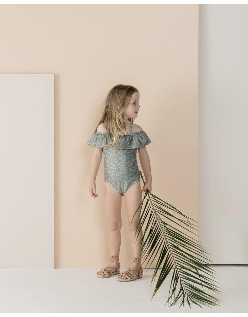 rylee cru rylee + cru off the shoulder one piece swimsuit