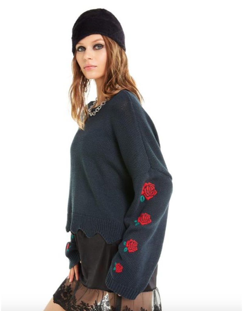 wildfox wildfox palmetto roses sweater