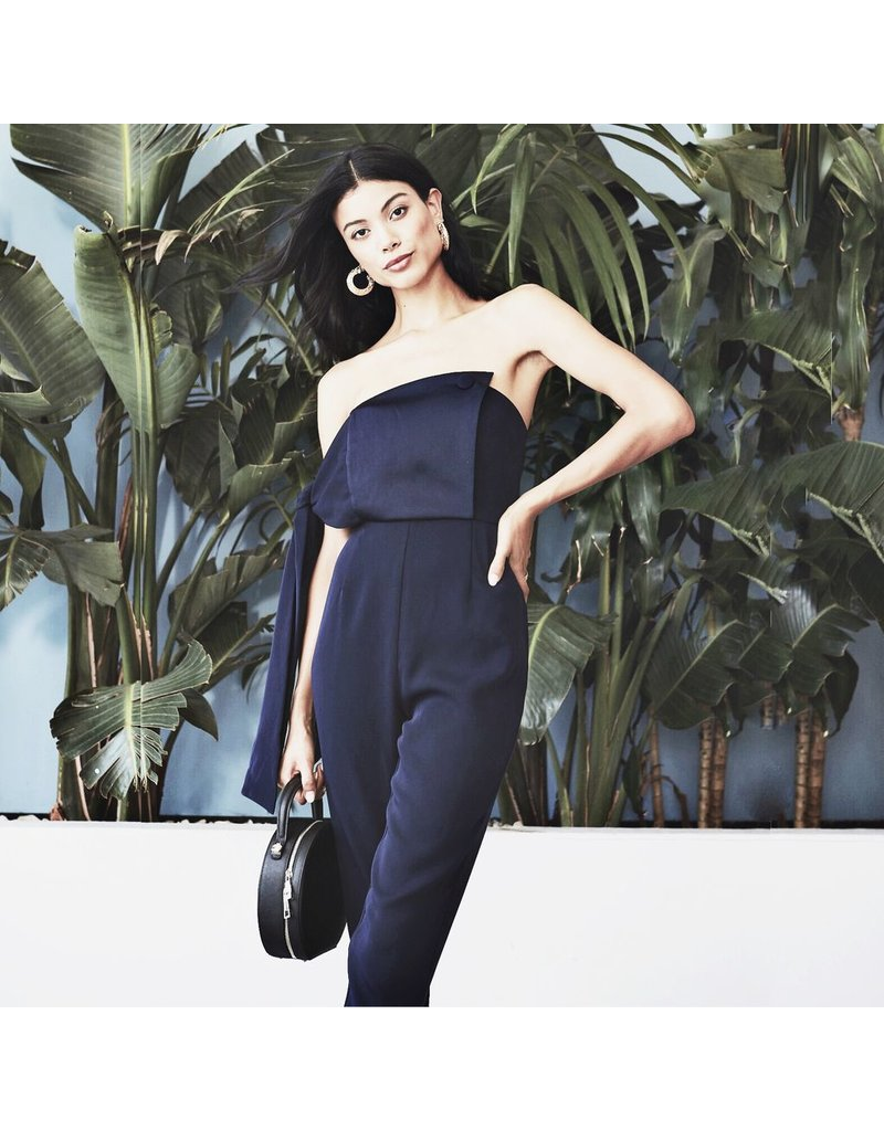 flight lux o.p.t jumpsuit with one shoulder tie