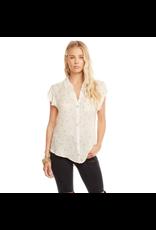 chaser chaser flutter sleeve button down shirt