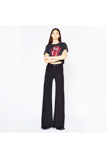 black orchid black orchid wide leg frayed denim