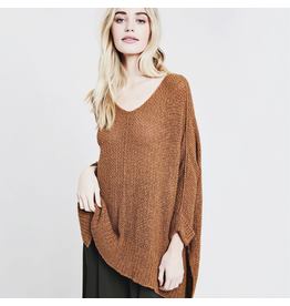 flight lux wishlist oversized sweater with pockets and rolled sleeve