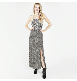 flight lux wild honey leopard print midi dress