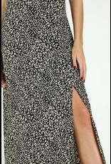flight lux wild honey leopard print midi dress
