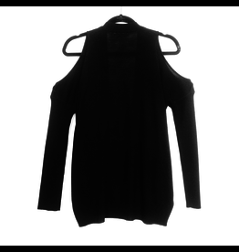 rd style knit open shoulder cardigan