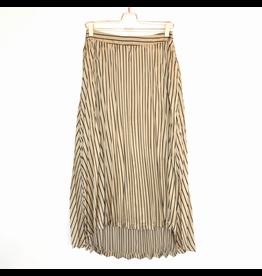 j.o.a. joa pleated high low skirt