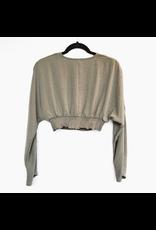 MinkPink minkpink woven top with gathered waist