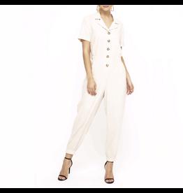 lush lush short sleeve woven jumpsuit