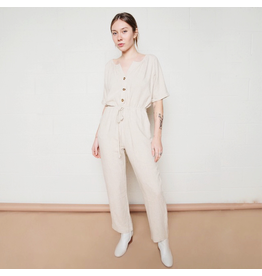 flight lux no less than button front jumpsuit