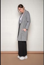 no less than no less than long open woven cardigan