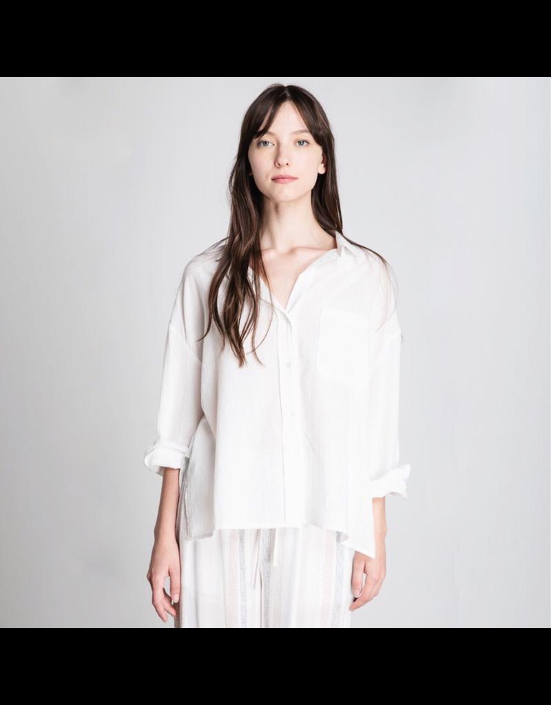 flight lux grade & gather cotton buttondown shirt