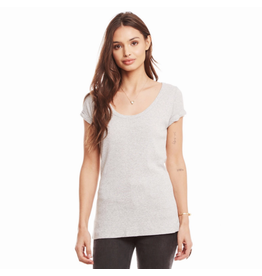 chaser chaser rolled scoop neck tee
