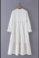 flight lux shampoo tiered midi dress