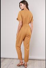 flight lux mustard seed drawstring jumpsuit