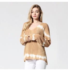 flight lux fate tie dye v neck sweater