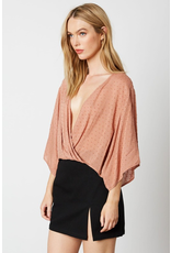 cotton candy flowy sleeve top