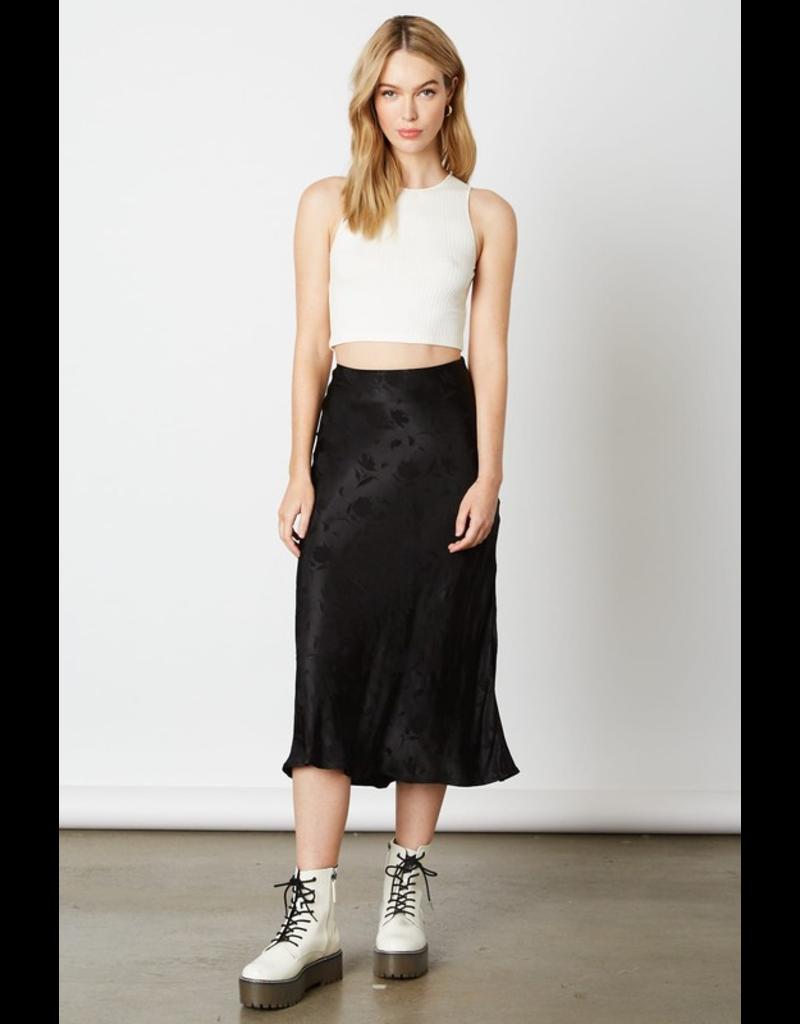 cotton candy silk printed skirt
