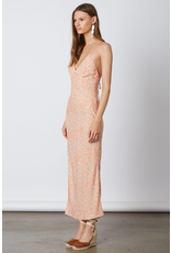 cotton candy maxi printed dress