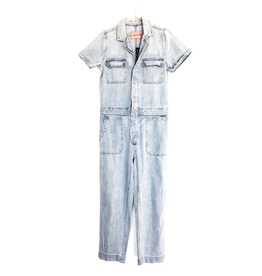 flight lux signature 8 denim overall suit