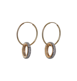 flight lux mackenzie pave double hoop earrings