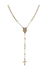 flight lux gold plated ally rosary necklace