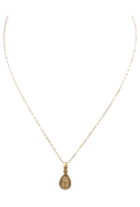 flight lux teardrop gold filled chain/plated Mary praying hands