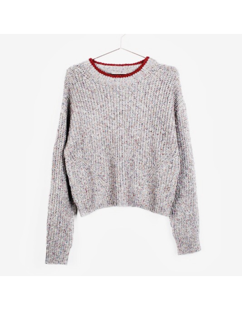 flight lux all row the elodie marled sweater